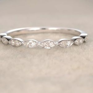 Jewelry - 925 Half Eternity White gold pave Diamond Ring